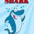 scary · rekina · cartoon · charakter · odizolowany · biały - zdjęcia stock © hittoon