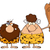 funny · cartoon · jaskiniowiec · ilustracja · biały · uśmiech - zdjęcia stock © hittoon