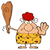 angry red hair cave woman cartoon mascot character gesturing and standing with a club stock photo © hittoon