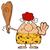 grot · vrouw · cartoon · mascotte · karakter - stockfoto © hittoon