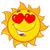 аннотация · вектора · солнце · икона · сердце · желтый - Сток-фото © hittoon