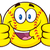 Happy Softball Cartoon Character Giving A Double Thumbs Up stock photo © hittoon