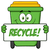 smiling green recycle bin cartoon mascot character holding a recycle sign stock photo © hittoon