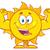 feliz · sol · mascote · músculo - foto stock © hittoon