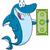 happy shark cartoon mascot character holding a dollar bill stock photo © hittoon