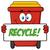 sevimli · kırmızı · geri · dönüşüm · karikatür · maskot · karakter - stok fotoğraf © hittoon