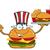 улыбаясь · Burger · мультфильм · талисман · характер · доллара - Сток-фото © hittoon