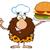 chef · burger · mascote - foto stock © hittoon