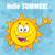 gelukkig · zon · cartoon · mascotte · karakter · groet - stockfoto © hittoon