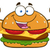 grappig · hamburger · cartoon · mascotte · karakter · spieren · geïsoleerd - stockfoto © hittoon