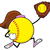 Softball Faceless Girl Player Cartoon Mascot Character Running With Glove And Ball stock photo © hittoon