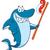 boldog · cápa · tenger · óceán · kék · fogak - stock fotó © hittoon