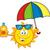 karikatür · şişe · güneş · metin · güneş · krem - stok fotoğraf © hittoon
