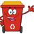 boldog · piros · újrahasznosít · tároló · rajzfilm · kabala · karakter - stock fotó © hittoon