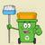 オープン · 緑 · リサイクル · 漫画のマスコット · 文字 - ストックフォト © hittoon