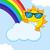bonitinho · engraçado · sol · óculos · de · sol · cara · olhos - foto stock © hittoon