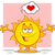 smiling sun cartoon mascot character with open arms and a heart stock photo © hittoon