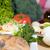 egészséges · reggeli · adag · tányér · közelkép · fitnessz - stock fotó © hochwander