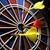 dart boart with three darts stock photo © hochwander