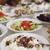 smakelijk · banket · restaurant · gericht · een · schotel - stockfoto © hochwander