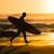 ファー · を実行して · ビーチ · 波 · 日没 · ポルトガル - ストックフォト © homydesign