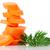 carota · fette · verde · prezzemolo · foglie - foto d'archivio © homydesign