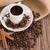 kávéscsésze · zsákvászon · zsák · pörkölt · bab · rusztikus - stock fotó © homydesign