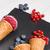 красный · плодов · мороженым · ложку · таблице · текстуры - Сток-фото © homydesign