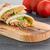 tavuk · sandviç · ızgara · tavuk · şeritler · taze · sebze - stok fotoğraf © homydesign