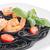 black spaghetti with shrimps stock photo © homydesign