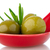 aceitunas · cerámica · cuchara · albahaca · aceite · de · oliva · alimentos - foto stock © homydesign