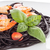 black spaghetti with shrimps stock photo © homydesign