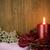 quente · ouro · vermelho · natal · luz · de · velas · ardente - foto stock © homydesign