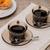 vla · koffie · zwarte · koffie · houten · tafel · textuur · ontbijt - stockfoto © homydesign