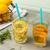 água · cocktails · mesa · de · madeira · fruto · laranja - foto stock © homydesign
