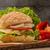 heerlijk · veganistisch · vegetarisch · hamburger · gegrild · aubergine - stockfoto © homydesign