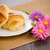 croissant · frambozen · bramen · glas · sinaasappelsap · vers - stockfoto © homydesign