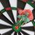 közelkép · piros · darts · cél · izolált · fehér - stock fotó © homydesign