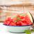 friss · görögdinnye · szeletek · fából · készült · felső · kilátás - stock fotó © homydesign