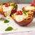 grelhado · pêssegos · prato · fresco · verão - foto stock © homydesign