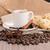 tazza · di · caffè · tela · ruvida · fagioli · rustico - foto d'archivio © homydesign