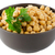 closeup of a bowl with boiled chickpeas stock photo © homydesign