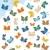 蝶 · コレクション · ファンタジー · 蝶 · 簡単 - ストックフォト © HouseBrasil