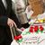 bruidstaart · bruid · bruidegom · cake · natuurlijke - stockfoto © hraska