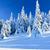 alan · ağaçlar · kar · mavi · mavi · gökyüzü · gökyüzü - stok fotoğraf © hraska