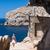 nő · sétál · tengerparti · promenád · sziget · Kanári-szigetek - stock fotó © hraska