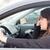 mulher · jovem · estrada · raiva · carro · feminino · transporte - foto stock © hsfelix