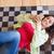 おはようございます · チェック · ソーシャルネットワーク · 女性 · リラックス · リビングルーム - ストックフォト © hsfelix