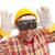 vrolijk · werknemer · architect · bouwvakker · gebaar - stockfoto © hsfelix