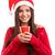 冷たい · 若い女性 · サンタクロース · 帽子 · コーヒー · 茶 - ストックフォト © hsfelix